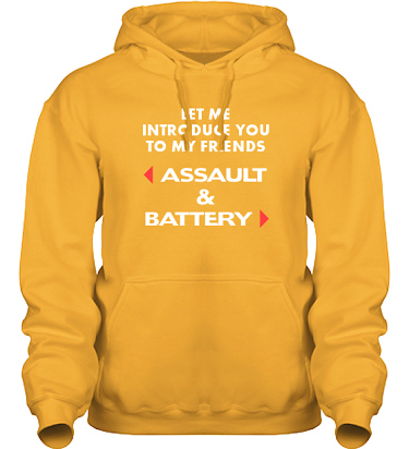 Hood HeavyBlend Gul i kategori Attityd: Assault & Battery