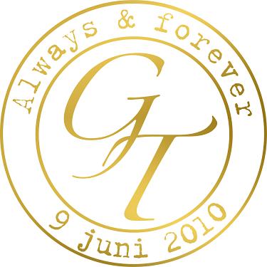 Väggdekor Guld i kategori Kärlek: Bröllopsmonogram