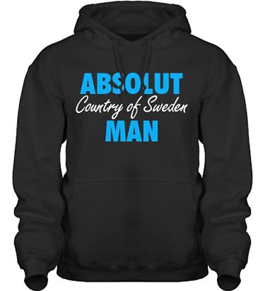 Hood HeavyBlend Svart/Blått tryck i kategori Attityd: Absolut Man