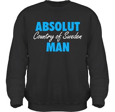 Sweatshirt HeavyBlend Svart/Blått tryck i kategori Attityd: Absolut Man
