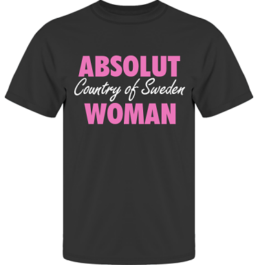 T-shirt UltraCotton Svart/Cerise tryck i kategori Attityd: Absolut Woman