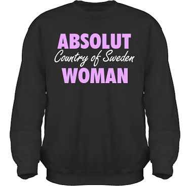 Sweatshirt HeavyBlend Svart/Lila tryck i kategori Attityd: Absolut Woman
