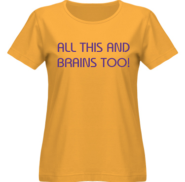 T-shirt SouthWest Dam Gul/Violett tryck i kategori För henne: All this