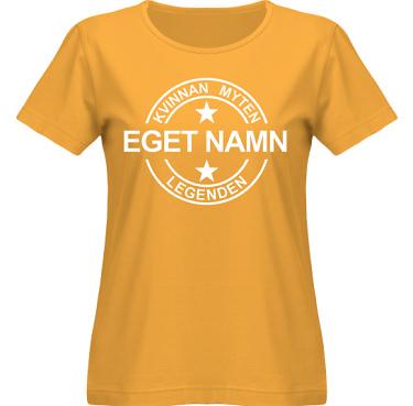 T-shirt SouthWest Dam Gul/Vitt tryck i kategori Familj/Kärlek: Myten Legenden Eget Namn