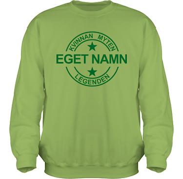Sweatshirt HeavyBlend Kiwi/Grönt tryck i kategori Familj/Kärlek: Myten Legenden Eget Namn