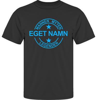 T-shirt UltraCotton Svart/Blått tryck i kategori Familj/Kärlek: Myten Legenden Eget Namn