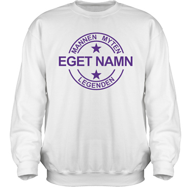 Sweatshirt HeavyBlend Vit/Violett tryck i kategori Familj/Kärlek: Myten Legenden Eget Namn
