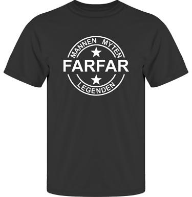T-shirt UltraCotton Svart/Vitt tryck i kategori Familj/Kärlek: Myten Legenden Farfar