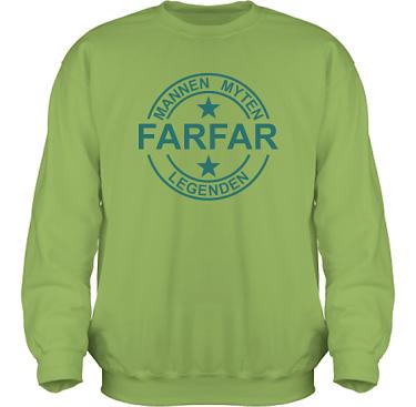 Sweatshirt HeavyBlend Kiwi/Mörkturkos tryck i kategori Familj/Kärlek: Myten Legenden Farfar