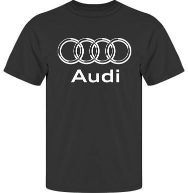 T-shirt UltraCotton Svart/Vitt tryck i kategori Motor: Audi