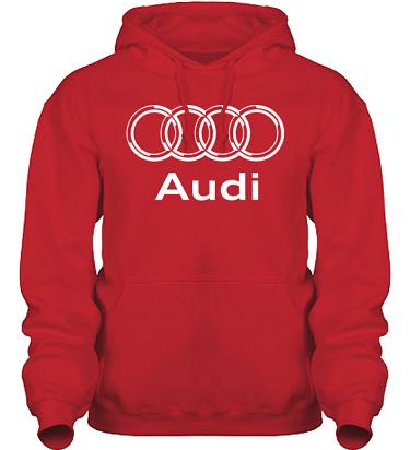 Hood HeavyBlend Röd/Vitt tryck i kategori Motor: Audi