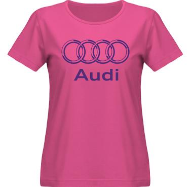 T-shirt SouthWest Dam Cerise/Violett tryck i kategori Motor: Audi