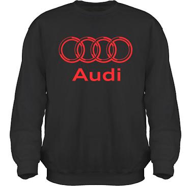 Sweatshirt HeavyBlend Svart/Rött tryck i kategori Motor: Audi