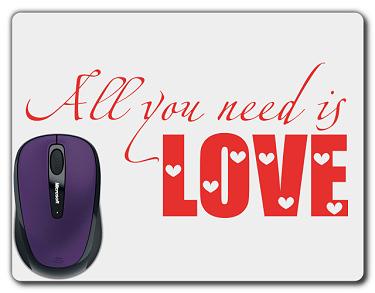 Tryck på musmatta i kategori Kärlek: All You Need