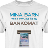 T-shirt, Hoodie i kategori Familj/Kärlek: Bankomat