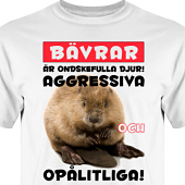 T-shirt, Hoodie i kategori Attityd: Evil Beaver