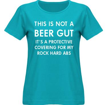 T-shirt SouthWest Dam Aquablå/Vitt tryck i kategori Alkohol: Not a beer gut