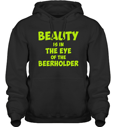 Hood HeavyBlend Svart/Äppelgrönt tryck i kategori Alkohol: Beerholder