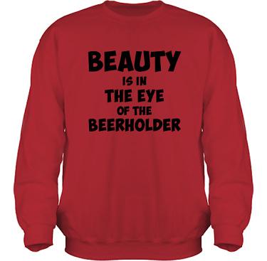 Sweatshirt HeavyBlend Röd/Svart tryck i kategori Alkohol: Beerholder