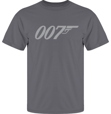 T-shirt UltraCotton Blyertsgrå/Grått tryck i kategori Film/TV: Bond