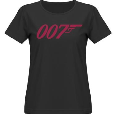 T-shirt SouthWest Dam Svart/Vinrött tryck i kategori Film/TV: Bond
