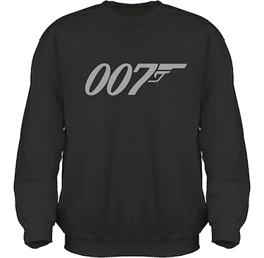 Sweatshirt HeavyBlend Svart/Grått tryck i kategori Film/TV: Bond