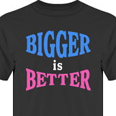 T-shirt, Hoodie i kategori Blandat: Bigger is Better