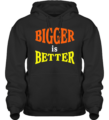 Hood HeavyBlend Svart/Orange och gult tryck i kategori Blandat: Bigger is Better