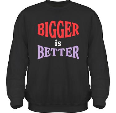Sweatshirt HeavyBlend Svart/Rött och lila tryck i kategori Blandat: Bigger is Better