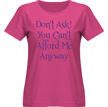 T-shirt SouthWest Dam Cerise/Violett tryck i kategori Attityd: Do not ask