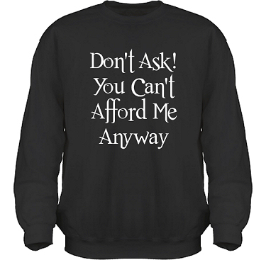 Sweatshirt HeavyBlend Svart/Vitt tryck i kategori Attityd: Do not ask