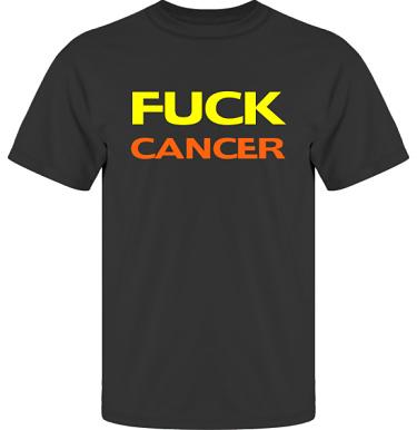 T-shirt UltraCotton Svart/Gult och orange tryck i kategori Attityd: Fuck Cancer
