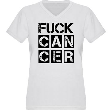 T-shirt XP522 Dam  i kategori Attityd: Fuck Cancer