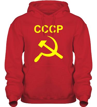 Hood HeavyBlend Röd/Gult tryck  i kategori Blandat: CCCP