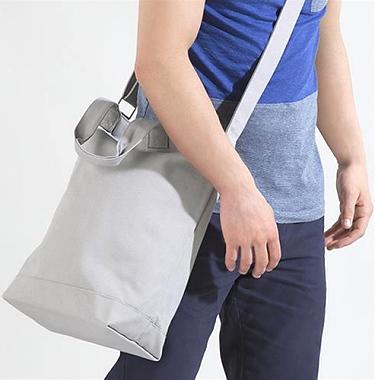 Canvas Day Bag Axelrem i kategori Eget namn/text: Canvas Day Bag Natur