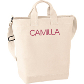 Canvasv�ska i kategori Eget namn/text: Canvas Day Bag Natur
