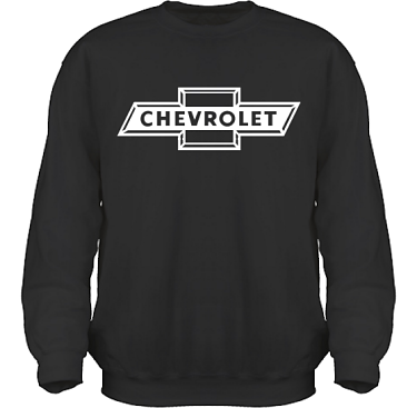Sweatshirt HeavyBlend Svart/Vitt tryck i kategori Motor: Chevrolet