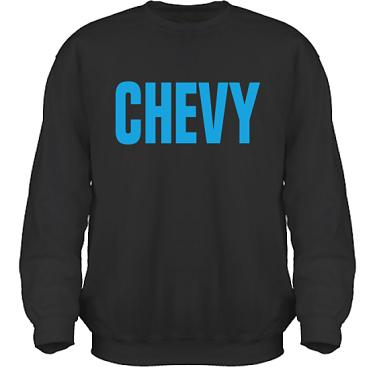 Sweatshirt HeavyBlend Svart/Blått tryck i kategori Motor: Chevy