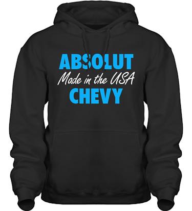 Hood HeavyBlend Svart/Blått tryck i kategori Motor: Absolut Chevy