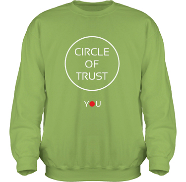 Sweatshirt HeavyBlend Kiwi i kategori Attityd: Circle of Trust
