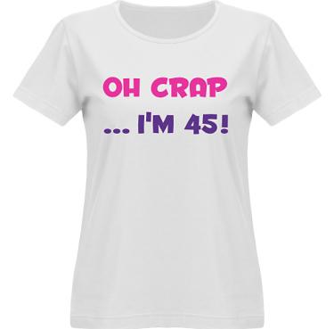 T-shirt SouthWest Dam Vit/Cerise och violett tryck i kategori Blandat: Oh Crap