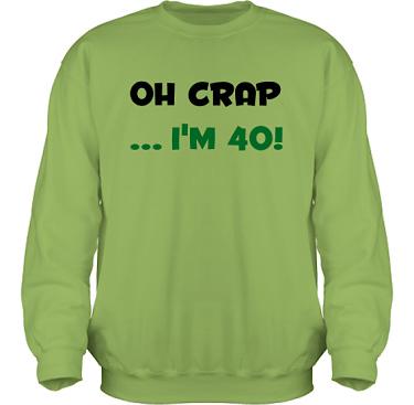 Sweatshirt HeavyBlend Kiwi/Svart och grönt tryck i kategori Blandat: Oh Crap