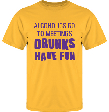 T-shirt UltraCotton Gul/Violett tryck i kategori Alkohol: Drunks have fun