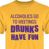 T-shirt, Hoodie i kategori Alkohol: Drunks have fun