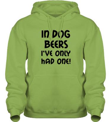Hood HeavyBlend Kiwi/Svart tryck i kategori Alkohol: In dog beers