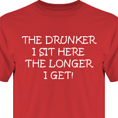 T-shirt, Hoodie i kategori Alkohol: The drunker I sit