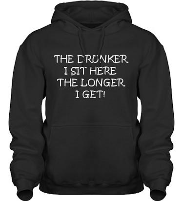 Hood HeavyBlend Svart/Vitt tryck i kategori Alkohol: The drunker I sit
