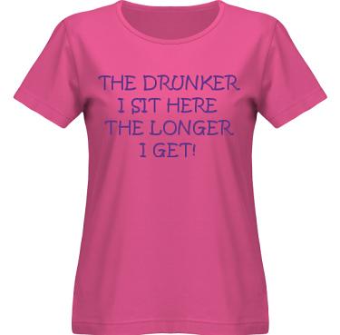 T-shirt SouthWest Dam Cerise/Violett tryck i kategori Alkohol: The drunker I sit