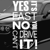 Dekaler i kategori Motor: Dekal Yes its fast