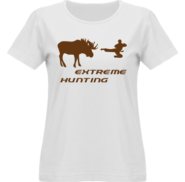 T-shirt SouthWest Dam Vit/Brunt tryck i kategori Attityd: Extreme Hunting